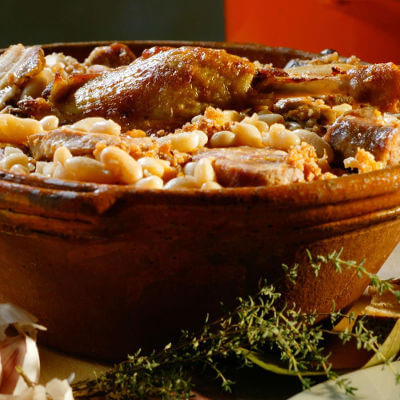 Pot of Cassoulet